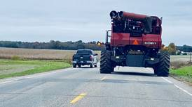 Motorists urged to remain alert to slow-moving equipment during harvest season